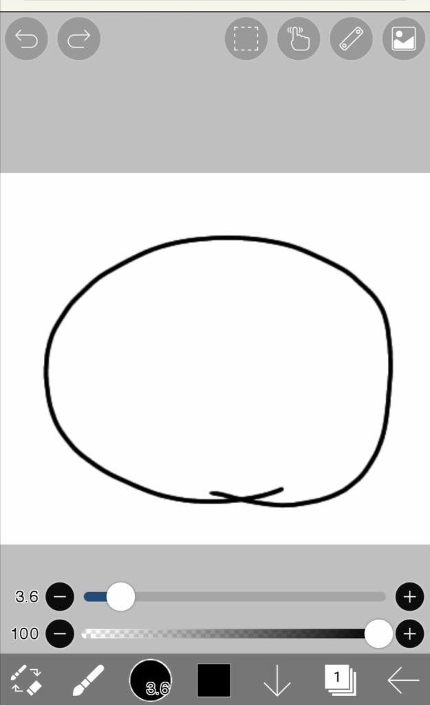 アイビスペイント初心者向け解説。丸を描く