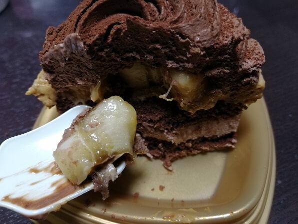 ローソン×GODIVAのショコラバナーヌバナナを食べる
